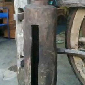 Ancient Antique Wood Kentongan With Natural Motifs