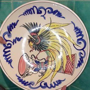 Dayak motif spiritual plate
