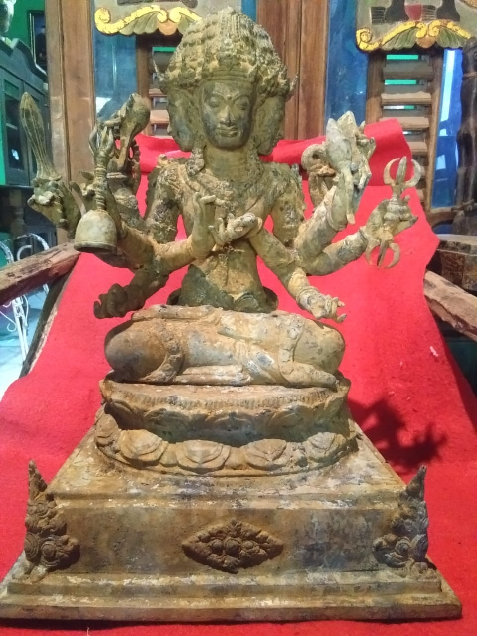 Ancient Statue Of The Blessing Of The God Of Goodness