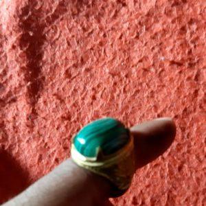 Akik Ring with Watermelon Motive